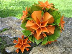 Origami ✿ Asterix ✿ Kusudama (+playlist) BUNCH OF ORIGAMI VIEDO HERE!!