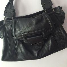 Mimco Berkeley Worker Handbag, Black Leather