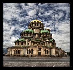 Sofia, Bulgaria; I was only here for a day, but I got to see a few places, including this cathedral