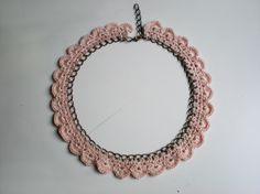 Pastel crochet                       Ref: C14, Complementos, Cuellos, Crochet, Accesorios, Punto, Accesorios, Bisutería, Collares, Complementos, Collares