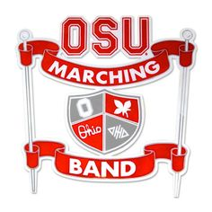 It features the logo of the Ohio State University Marching Band. Description…