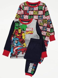 Lasten Marvel Avengers pyjama Long Sleeve Pyjamas, Marvel Avengers, Latest Fashion For Women, Nightwear, Baby Toys, Boy Outfits, Pajamas, Legs, Sleeves