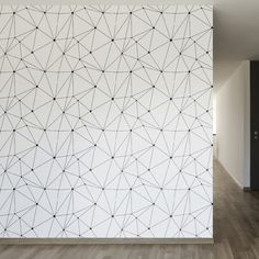 "Technology Vector Removable 8' x 20"" Geometric Wallpaper"