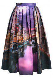 Venetian Vanity Midi Skirt