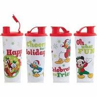 set of 4 mickey mouse tumblers with lids