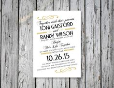 Curvy Wedding Invitation / DIY Printing by RejoiceGraphics on Etsy