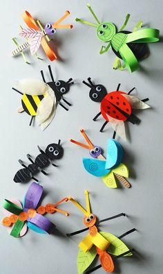 Crafts for kids Insect crafts Paper butterfly crafts Butterfly crafts Bug crafts Crafts - Learn how to make this simple paper butterfly craft It's a simple and colorful spring craft that kids - Animal Crafts For Kids, Spring Crafts For Kids, Paper Crafts For Kids, Summer Crafts, Toddler Crafts, Preschool Crafts, Art For Kids, Paper Butterfly Crafts, Paper Butterflies