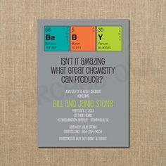 Great Chemistry Baby Shower Invitation