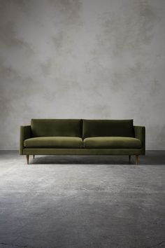 The TIVOLI Three-Seater Sofa - in Fern Velvet. A simple mid-century inspired sofa, the Tivoli brings a little architecture to your living room with its clean lines and minimal styling, leaving room fo Sofa Furniture, Sofa Chair, Furniture Design, Furniture Price, Smart Furniture, Deco Furniture, Arm Chairs, Luxury Furniture, Garden Furniture