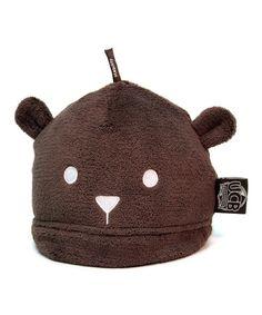 Look at this #zulilyfind! Chocolate Brown Undercover Bear Cub Cap #zulilyfinds