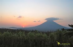Sunset over Ometepe Island, Nicaragua  Click on image for more info