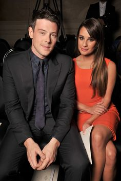 Cory Monteith and Lea Michele Front Row at Atelier Versace