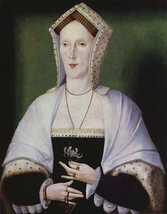 Unknown woman, formerly known as Margaret Pole, Countess of Salisbury from National Portrait Gallery. c1535. Margaret Pole the Blessed, Countess of Salisbury (1473 - 1541) Daughter of George, Duke of Clarence, who was the brother of King Edward IV and King Richard III. Peeress in her own right . One of the few surviving members of the Plantagenet dynasty after the Wars of the Roses, she was executed in 1541 at the command of King Henry VIII, her 1st cousin, once removed. Beatified, 1886.