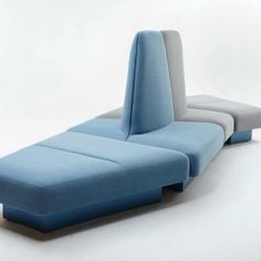 naughtone Rhyme 3 quarter angle. Contemporary modern furniture. Architectural modular seating in pastel colours.