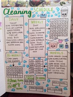 Are you looking for bullet journal ideas to keep your house clean?Are you looking for bullet journal ideas to keep your home clean and organized? Here are 15 ideas for the layout of bullet journals How To Bullet Journal, Bullet Journal Aesthetic, Bullet Journal Notebook, Bullet Journal Ideas Pages, Bullet Journal Spread, Journal Pages, Beginner Bullet Journal, Bullet Journal Cleaning Schedule, Spring Cleaning Schedules