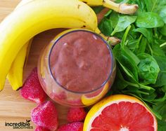Strawberry Grapefruit Detox Smoothie Recipe 1 grapefruit, peeled and deseeded 10 medium strawberries 1 banana, peeled 2 cups baby spinach Instructions....