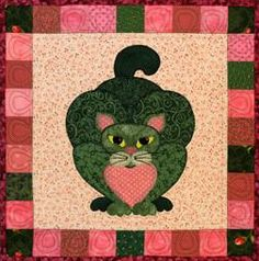 "This is block eighteen of the popular StoryQuilt series, Garden Patch Cats by Helene Knott. The quilt block finishes at 18"" square. This pattern includes the re"