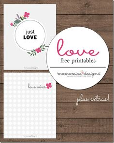 FREE design: Just Love Print and Love Wins Print