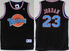 9a18ec31c NBA Space Jam  23 Michael Jordan Black Swingman Throwback Jersey Nba  Chicago Bulls