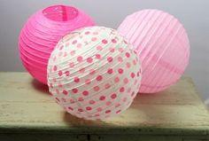 Paper Ball Lanterns - Pink