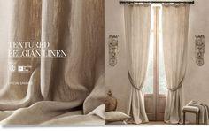 LOVE for living room & dining room. Textured Belgian Linen Drapery