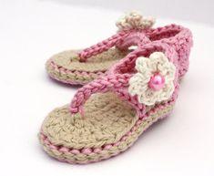 Baby Sandals Crochet Baby Shoes Baby Girl por upinthefarawaytree