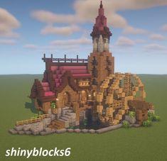 Minecraft Building Blueprints, Minecraft House Plans, Minecraft Cottage, Minecraft Castle, Cute Minecraft Houses, Minecraft Crafts, Minecraft Designs, Minecraft Buildings, Minecraft Barn