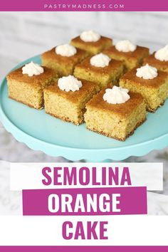 This one bowl cake made with semolina flour has a crunchy sweet crust outside, soft and tender texture inside and some delicate notes of orange flavor. Bowl Cake, How To Make Cake, Baking Recipes, Madness, Delicate, Notes, Texture, Orange, Sweet