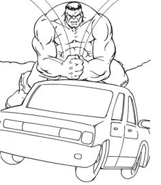 The Head Of The Hulk Coloring Page | Homeroom Decor | Pinterest ...