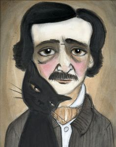 Gothic Inspired Portraits of Famous Authors by Debra Styer    edgar allan poe
