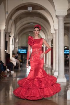 Flamenco Dresses, Mermaid, Gowns, Love, Formal Dresses, Fashion, African Outfits, Ruffles, Polka Dots