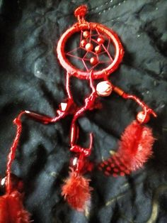 Red Dream Catcher by Aspirations1805 on Etsy