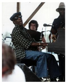 St.Marc Street Band: Earl Gordon with Professor Longhair at 1976 New Orleans Jazz Festival