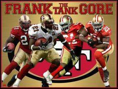 Frank Gore, Love him Niners Girl, Sf Niners, Forty Niners, 49ers Players, 49ers Fans, Best Running Backs, Frank Gore, Joe Montana, Sports Fanatics