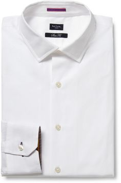 Paul Smith White Slim-Fit Cotton Shirt sur shopstyle.fr