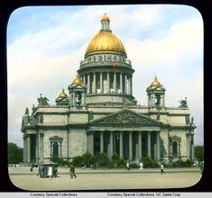Исаакиевский собор: фасад, выходящий на Исаакиевскую площадь. Фото: Бренсон ДеКу, 1931 г.