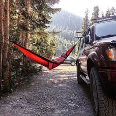 I mean seriously. Look at that. You need a #TrekLightGear hammock in your life! Put the stress on pause and get one (or three) right now at TrekLightGear.com. (Hint: Sign up for our mailing list and you'll get a 10% off #coupon you can use on your very first order.) The #HammockLife awaits...  : @outofthewoods by @treklightgear