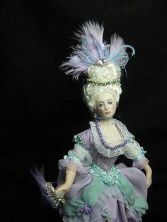 Miniature Porcelain 1/12 scale doll Marie Antoinette от KaysStudio