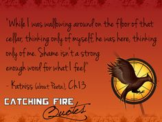 Catching Fire Quote, Katniss about Peeta