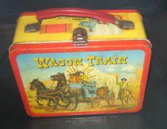 Vintage 1964 Wagon Train Metal Lunch Box