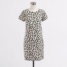 J. Crew Factory Polka Dot Structured Sheath Dress
