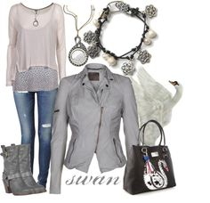 """swan"" by mk-style on Polyvore"