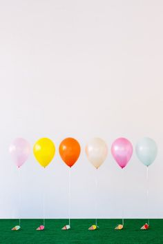 Balloon weights... shaped like ice cream cones? #DIY never seemed so sweet.