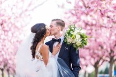 Philadelphia cherry blossoms wedding