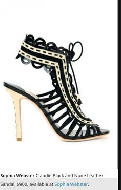 a575b8338adc sophia webster claudie black and nude leather sandal