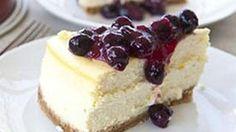 Lemon Cheesecake with Blueberries