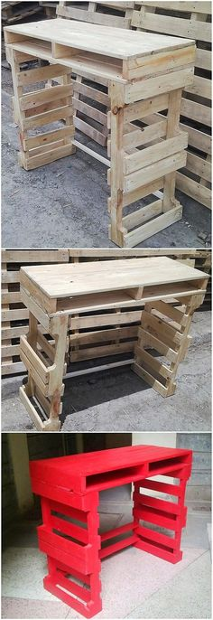 The Best and Easiest DIY Ideas with Recycled Wood Pallets: Let's give your dream home the feel of reality by showing you out with some of the mesmerizing and charming ideas of the old shipping wooden pallets. Wooden Pallet Projects, Wood Pallet Furniture, Pallet Crafts, Pallet Ideas, Recycled Pallets, Wooden Pallets, Recycled Wood, Diy Furniture Easy, Furniture Making