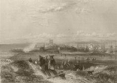 View of Hartlepool. Durham. FINDEN 1842 old antique vintage print picture