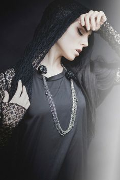 """CASSTRONAUT x Ghostlove. Gothic Jewelry -""""Blood and Oil"""" Skull Statement Necklace, Shot by Christine Shields"""