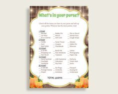 Whats In Your Purse Baby Shower Whats In Your Purse Autumn Baby Shower Whats In Your Purse Baby Shower Autumn Whats In Your Purse 0QDR3 - Digital Product #babyshowergames #babyshowerdecorations